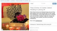 Real Weddings Feature screenshot of VIP room centerpiece