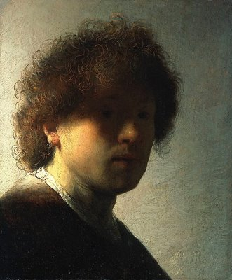 A young Rembrandt, c. 1628, when he was 22.