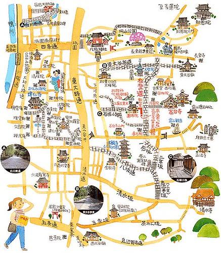 京都東山地區散步地圖
