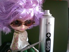 Pinafore wig after hair dress visit!