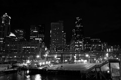 from the ferry dock (_anjolie_) Tags: seattle ferry night tobainbridge ridingsolo