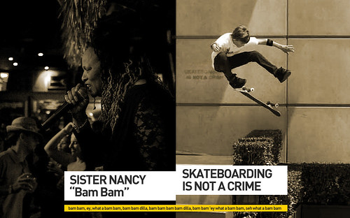 "Sister Nancy ""Bam Bam"" / Skateboarding-is-not-a-crime"