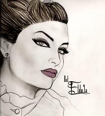 (【 вήт-εĻ đό7ά~ 】Soon ~) Tags: portrait white black art girl pencil painting sketch artist drawing draw bent edit doha qatar بنت do7a qtr bnt قطر الدوحه بورتريه رسم q6r رصاصي رسمه سكتش eldoha eldo7a