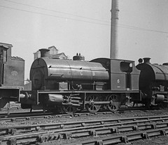 Peckett 2023 NCB Ashington 6 29-May-1966 (pondhopper1) Tags: blackandwhite white black industrial steam railways ncb uksteam 060st