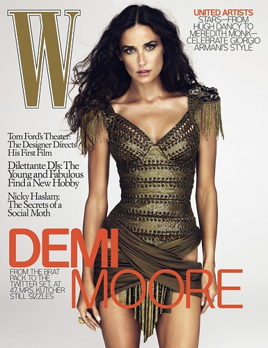 Demi Moore image on W magazine
