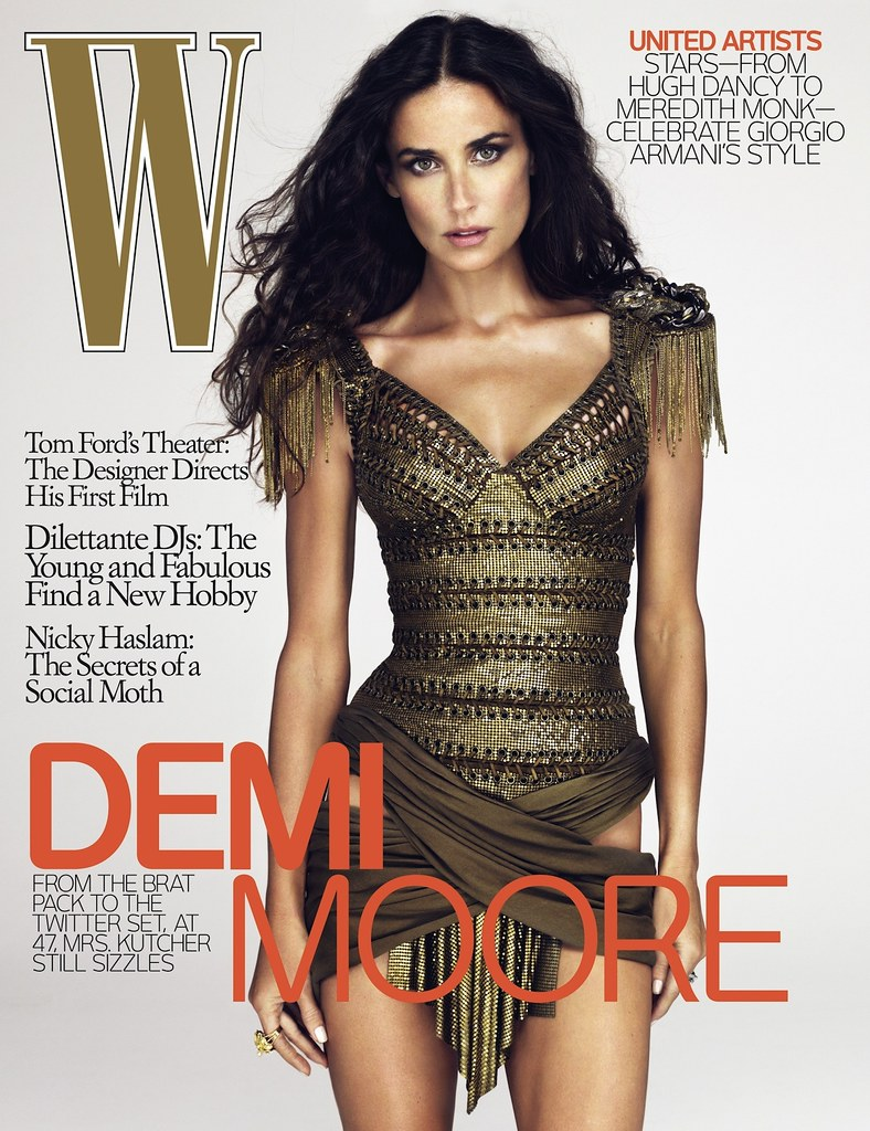 Thumb Demi Moore con mal Photoshop en la revista W