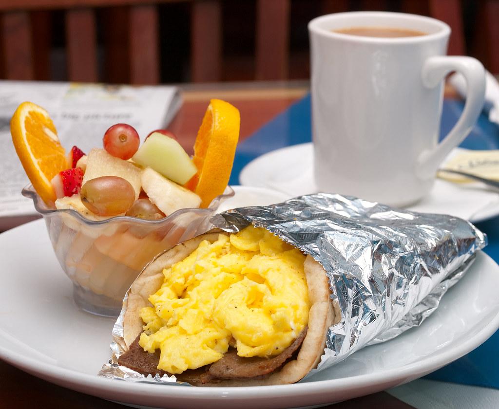 365 Breakfasts-324: Pita Wrap at Greek Islands restaurant