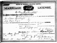 Stephen & Dora Logue Boatright - marriage