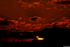 Blood Red Sky, Golden Eye, Behind Loud Black Cloud - IMRAN  2000+ Views! (ImranAnwar) Tags: sunset red sky stilllife sun inspiration newyork hot fall home nature yellow clouds outdoors landscapes suffolk nikon seasons peaceful tranquility longisland 2009 imran d300 patchogue imrananwar eastpatchogue