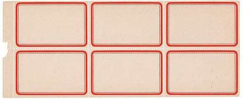 Dennison Label Sheet. Calsidyrose/Flickr
