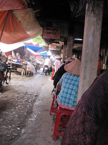 Hoi An, Vietnam market - Cao Lau (the regional noodle soup) vendors