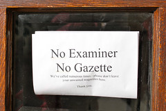 """""""No Examiner, No Gazette"""""""