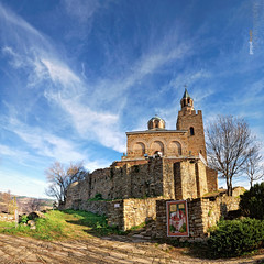 church, Veliko Tyrnovo (geopalstudio) Tags: travel art nature architecture ancient nikon europe view capital culture eu bulgaria fortification tamron velikotarnovo d60 digitalcameraclub 175028 geopalstudio easternorthodoxreligeousarchitecture