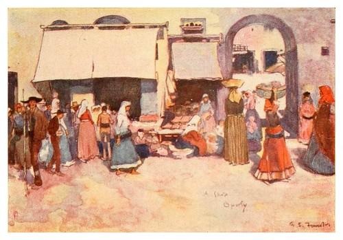 002-Una tienda en el viejo Oporto-Through Portugal 1907- A.S. Forrest