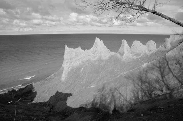 Chimney Bluffs, Uncorrected