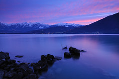 Dawn (diomede2008) Tags: longexposure pink sky italy mountain lake mountains reflection nature water sunrise reflections landscape dawn mirror nikon europe blu bluehour dolomiti veneto dolomitibellunesi platinumheartaward nikond300 theperfectphotografer goldstaraward platinumpeaceaward diomede2008