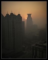 Shanghai sunrise (genghis.postlethwaite thanks for 500k+ views) Tags: china photoshop sunrise dawn smog republic fuji shanghai peoples lightroom cs3 wpz