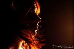 (Amanda Takes Pictures) Tags: seattle lighting light portrait orange amanda hot art girl silhouette hair studio photography warm profile institute studiolighting hotlight mccracken artinstituteofseattle constantlight contstant amandamccracken amandamccrackenphotography
