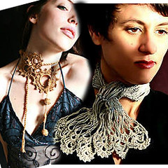 Neck Adornments (stitchdiva) Tags: crochet hairpinlace throatadornments hairpinbook