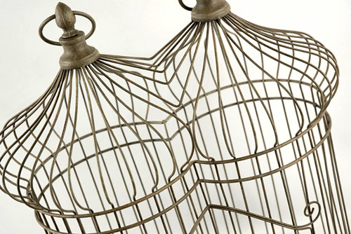 Antiqued Iron Decorative Birdcage4