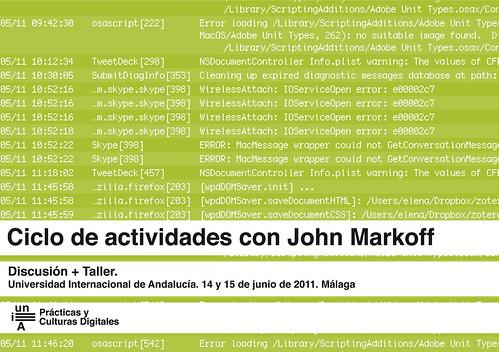 Ciclo de actividades con John Markoff