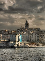 The Magnificent Istanbul (Nejdet Duzen) Tags: city trip travel bridge sea cloud tower turkey trkiye istanbul deniz kpr galata bulut galatabridge kule turkei galatatower seyahat galatakulesi galatakprs ehir saariysqualitypictures mygearandme