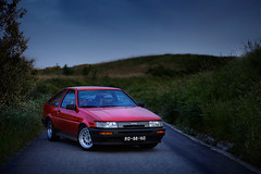 Toyota Corolla GT Twin Cam (AE86) (David Guimares) Tags: road blue red mountain cold classic portugal beautiful japan night vintage track cam rally twin racing lsd 1600 80s apex toyota 16 gt fr touring corolla keiichi tsuchiya touge levin drift trueno etcc corners trd ae86 initiald 16v fujiwara lightweight wtcc takumi rwd groupa 4age katayama nobuaki hachiroku