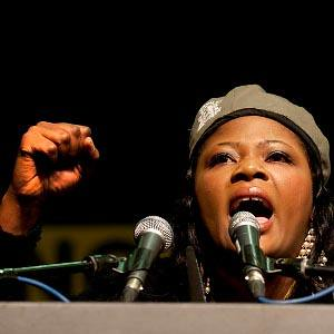 Deputy Secretary General of the Pan-African Youth Union and a member of the ZANU-PF Youth League, Tendai Wenyika, speaks at the ANCYL conference in South Africa. She blasted imperialism and called for African unity. by Pan-African News Wire File Photos