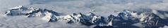 Peaks over Paradise panoramic view (johnwporter) Tags: southcascades mountrainiernationalpark sr706 campmuir hiking june 瑞尼爾山國家公園 穆爾營 步行 panorama 全景 stevenspeak unicornpeak manateemountain pinnaclepeak plummerpeak lanepeak wahpenayopeak chutlapeak 南喀斯喀特山脈