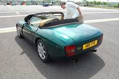 TVR Griffith 500 (D's Carspotting) Tags: tvr griffith 500 france coquelles calais green 20100613 h19tvr le mans 2010 lm10 lm2010