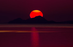 Red sunset (Vagelis Pikoulas) Tags: red sun sunset porto germeno greece 2016 canon 6d tamron 70200mm vc sea seascape landscape view europe