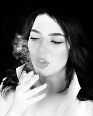 Zuzanna (Marcin Krawczyk) Tags: art monochrome blackandwhite smoking smoke portrait people marcinkrawczyk