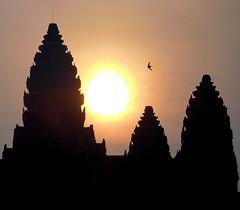 Angkor Wat (Lalallallala) Tags: angkorwat cambodia travel sunrise morning swallow sun tower