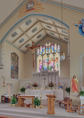 Saint Joseph Roman Catholic Church, in Freeburg, Illinois, USA - sanctuary