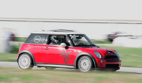 Mini Cooper running at dunnville