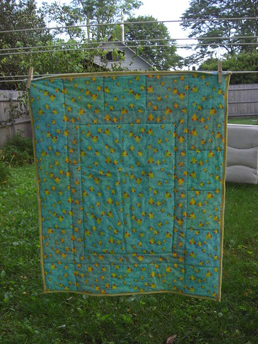 Back of Baby Duck Quilt