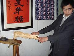 Making Maltose Candy (Namisan) Tags: china venice water ancient candy ramen watertown zhouzhuang maltose
