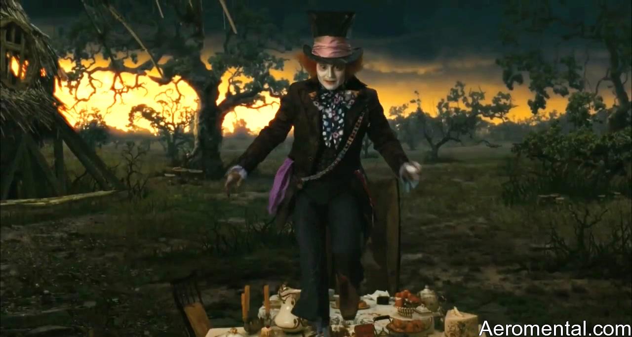 Alicia en el País de las Maravillas Sombrerero Loco mesa