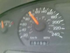 my Blue Mustang is full (Ybory) Tags: speed top      mustang98