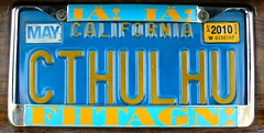 Cthulhu License Plate Covered Since 1980 - Fra...
