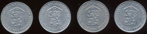 5 halierov Československo 1962-76