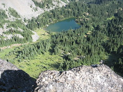 Silver Lake from marmot's throne