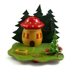 Vintage mushroom moneybox (Wooden donkey) Tags: wood mushroom vintage wooden clairbois