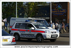 Humberside Nissan (Paul Simpson Photography) Tags: uk football nissan cops 4x4 police policecar emergency crowdcontrol scunthorpe 2007 999 patrolcar emergencyvehicle scunthorpeunited humbersidepolice humbersidepolicecar