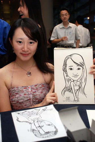 Caricature live sketching for SMC Teachers'Day D&D 2009 - 6