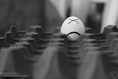 Alone... (MJ ♛) Tags: bw white black face canon eos 50mm flickr alone sad creative estrellas ef egge alahmadi 40d flickraward malahmadi