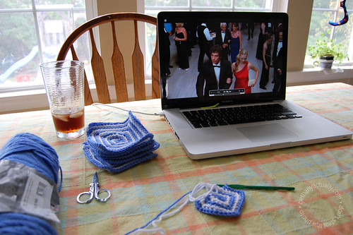 watching Chuck & crocheting