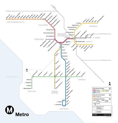 Metro Rail System Map- June 2009