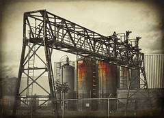 aging industry (TheWalkinMan) Tags: old texture industry sepia rust industrial structure aging nikonsunglassesscoredatthethriftstore