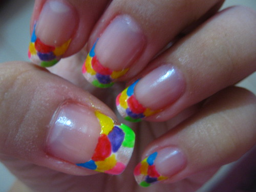 Nail art colorful tip